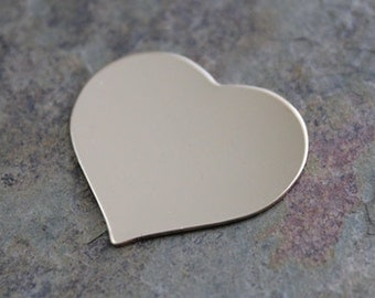 1.5 inch 22 g HEART GOLD FILL Jewelry Stamping Supplies