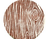 RESERVED for JanineRosenke - faux bois coasters