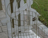 Large Brass Crown Shape Bird Cage sooo Vintage