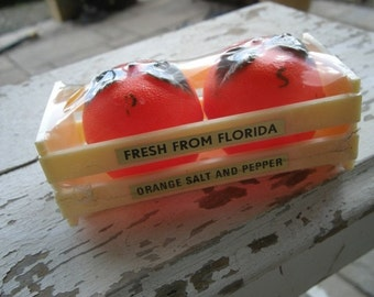 1970s Florida souvenir salt and pepper shakers in original package
