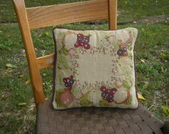 Fruit Motif Needlepoint Pillow and Cover