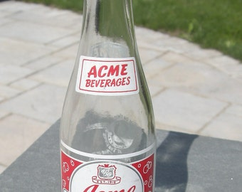 Acme beverages 7 OZ. Glass Bottle, Wilkes Barre, Pennsylvania