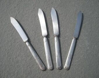 Set of 4 Antique Fruit Knife Spreader by Oneida Community