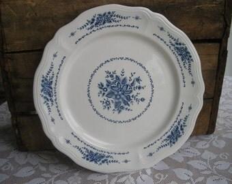 Vintage Sears Mayhill Federalist Blue Flower Serving Platter 12.25 Inch