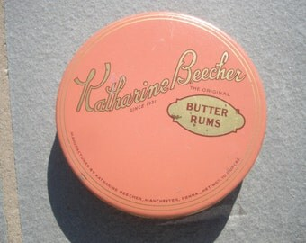 Katharine Beecher Vintage Butter Rums Candy Tin