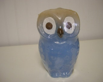 Vintage Blue Owl Candle by Lenox Candles New In Package