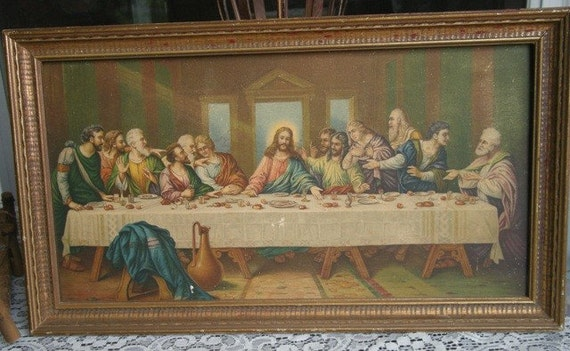 The Last Supper Picture In Wood Frame