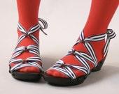 Size 9 - Low Ebony Peeptoe RTW Mohop Shoes