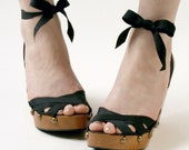 Size 5 - High Cherry Wedge RTW Mohop Shoes