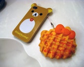 Giant Hello Kitty Waffle Cell Phone Charm