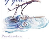 Thinking of You Greeting Card FREE SHIPPING