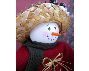 Flurry the Snowlady - Christmas Winter Shelf Sitter Block Doll