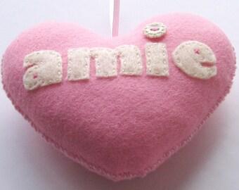Pink -amie- Handmade Felt Love Heart