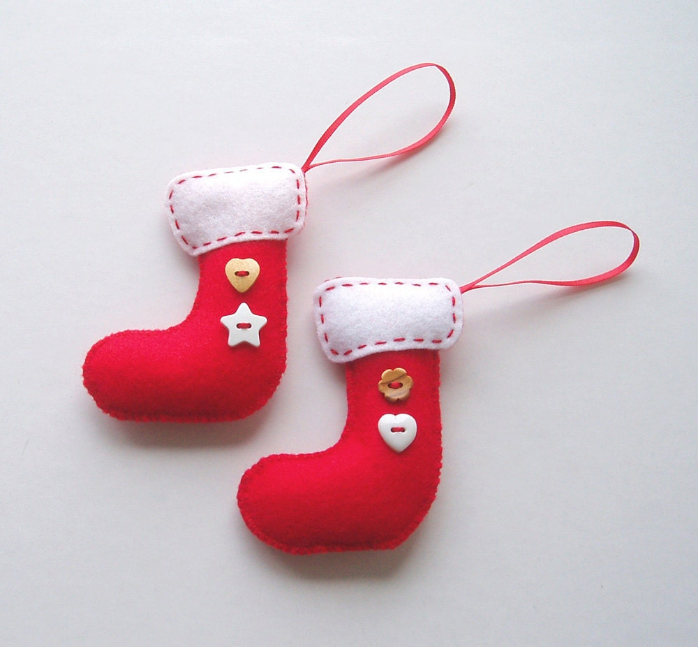 Super cute promo handmade mini felt christmas stockings for Custom made christmas stockings
