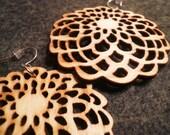 Natural Wood Blossom Earrings