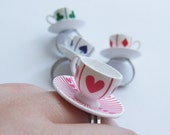 Wonderland Cards - Teacup cutie ring