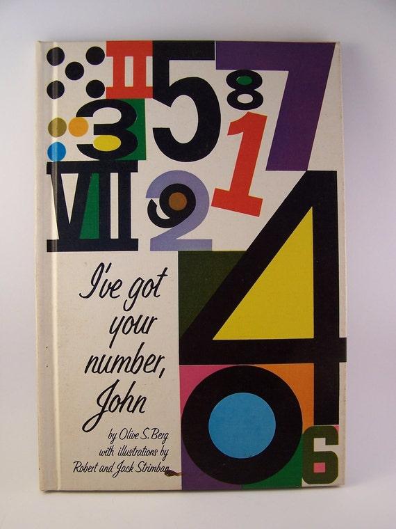 1965 vintage i've got your number john book by olive s. berg  robert and jack strimban