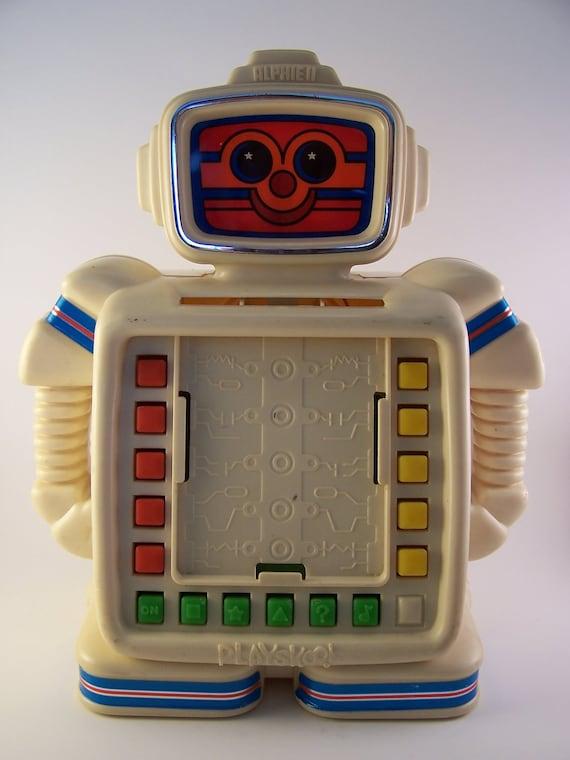 vintage alphie II robot toy 80s