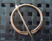 Flared Bronze Penannular Brooch