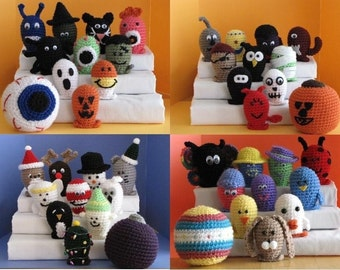 Amigurumi Bowling Sets Crochet Pattern Bundle Deal - Buy 3 Get 4th FREE