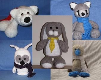 Amigurumi Large Animals Crochet Pattern Bundle Deal - Buy 2 Get 3rd HALF PRICE