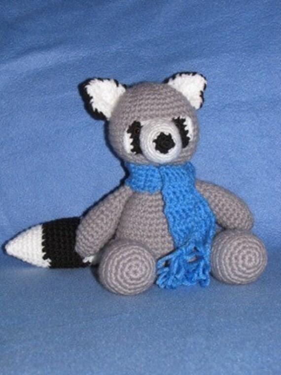 Amigurumi Rascal the Raccoon Crochet Pattern