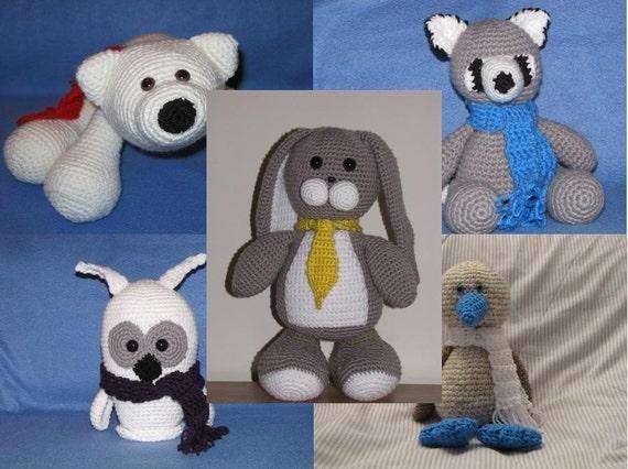 Amigurumi Big Animals : Amigurumi Large Animals Crochet Pattern Bundle Deal Buy 2