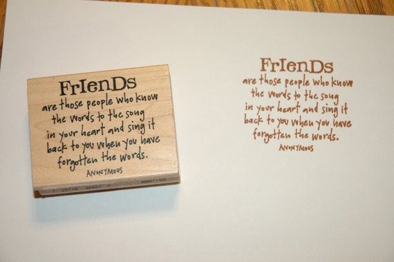 Friendship Rubber Stamp