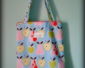 Apples and Pears Kids Library Tote