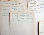 Store Receipts Unused 1930s W.F.Fuller Albion Maine
