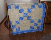 Hand Quilted Single Irish Chain Lap Quilt