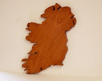 Map of IRELAND In Solid Cherry  (LAST ONE)