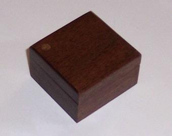 Pill Box or Ring Box in Walnut