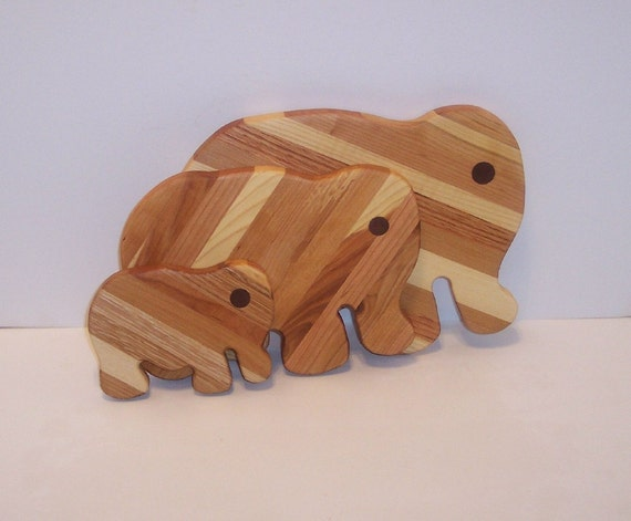 3 Elephant set of Cutting/Cheese Boards