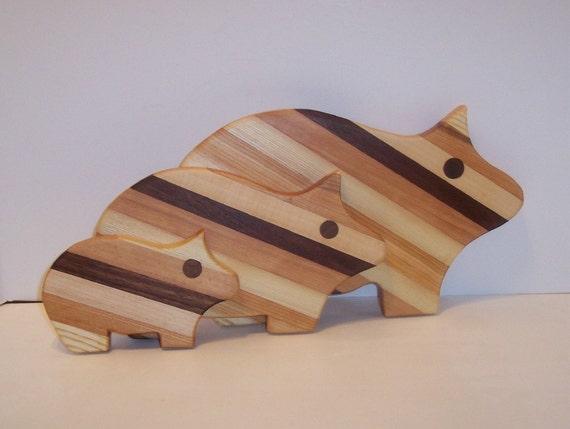 3 PIG Cutting Board Set