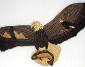 Custom Intarsia wood art- Flying High