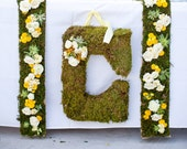 MADE to ORDER Over Sized Natural Moss 20x18 Inch Letter Intial Hanging Letters for Wedding Reception Decoration