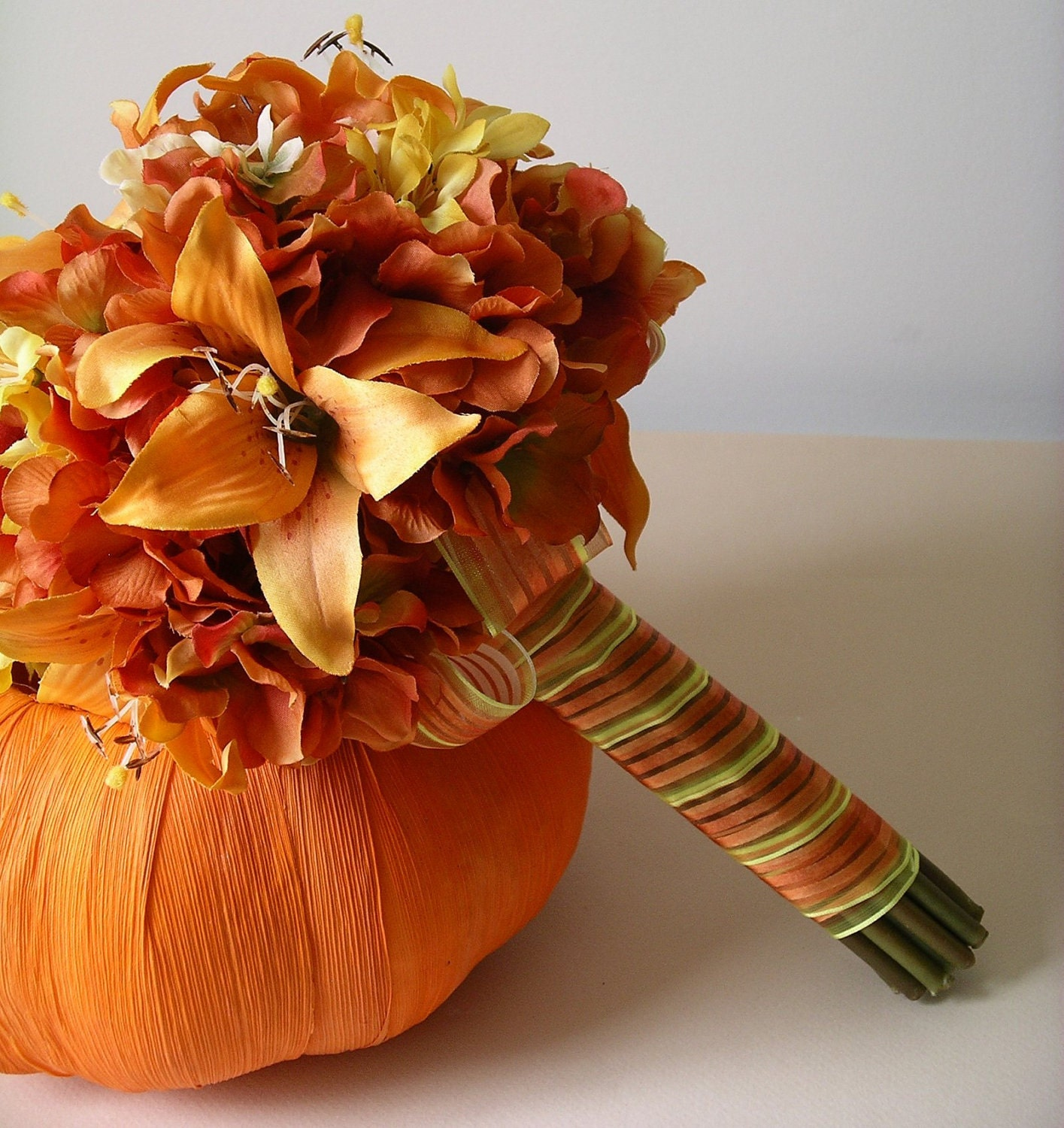 Wedding Flowers Autumn: CUSTOM Order For Perastra Orange Tiger Lily By BloomedToLast