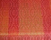 RESERVED FOR DEBBIE - Handwoven, Hand painted Silk Scarf - 'Red Macaw Parrot' Design