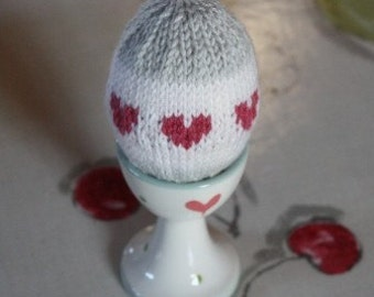 Knitted Egg - Small Heart Design