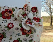 New Cotton Apron Mary Engelbreit Fabric Button Flower Full length with pocket pre-Summer Sale