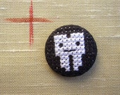 Little Tooth Cross Stitch Badge