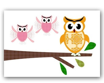 Twin Owls - We are ready to fly, nursery decorating ideas, back to school, flying owls