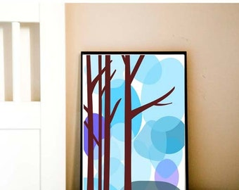 Cold winter tree - Fine art print, Mothers Day