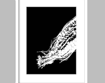 Sweet Corn Silhouette - Fine Art Print, kitchen art, dining room, corn silhouette, maize, black and white