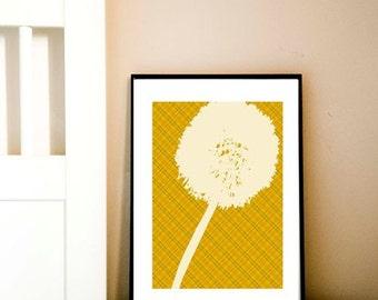 Dandelion Fine art print, design, silhouette, dandelion silhouette, dandelion art, Mothers Day