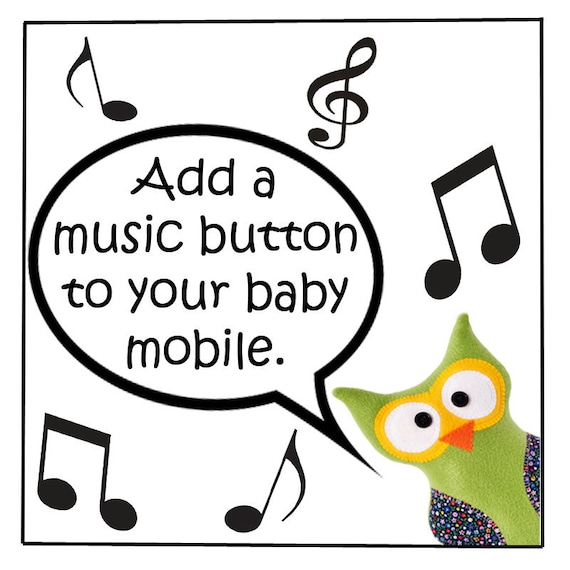 MOBILE ADD-ON - Add a Music Button to Your Baby Mobile - Twinkle Twinkle Little Star
