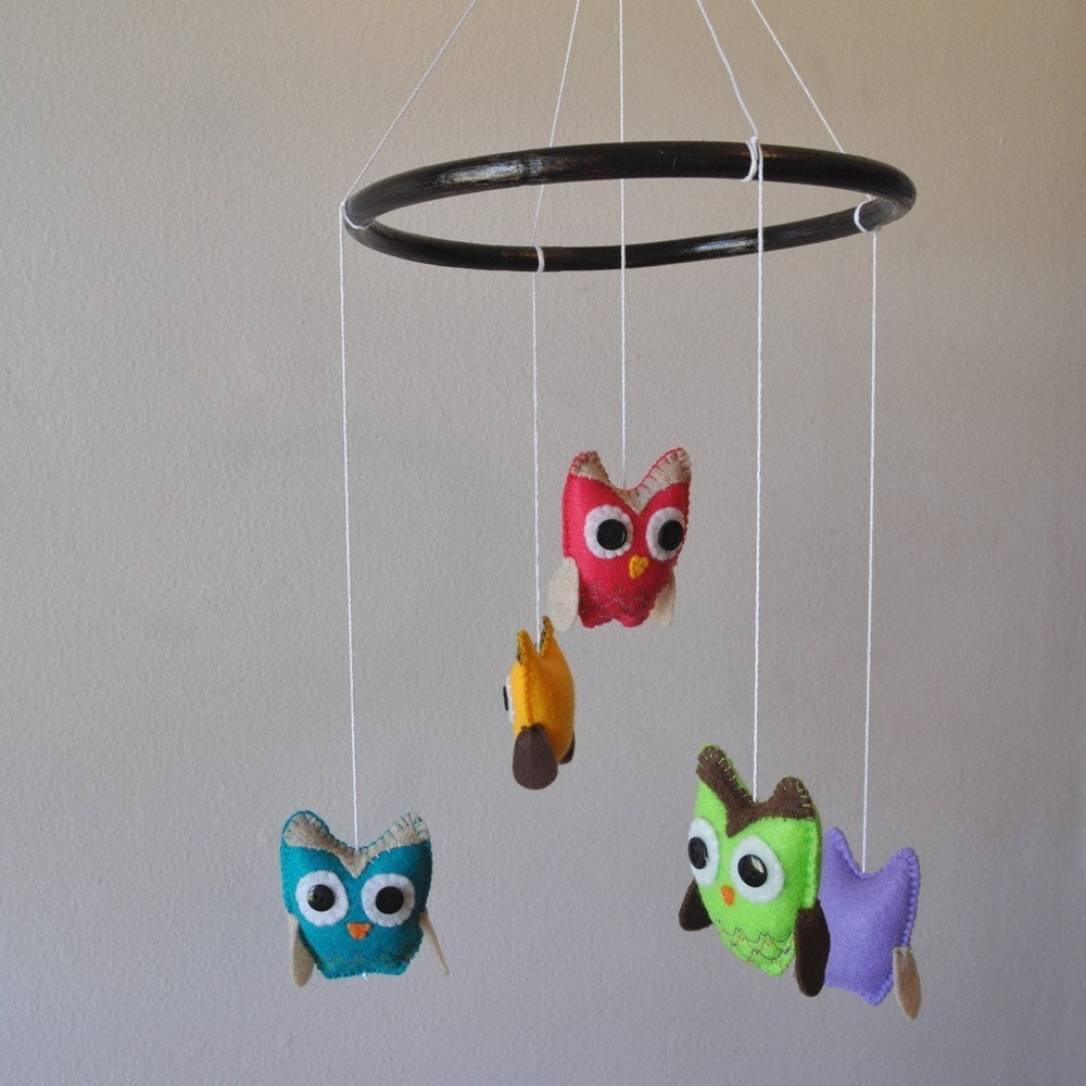 hanging owl baby mobile. Black Bedroom Furniture Sets. Home Design Ideas