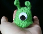 Crocheted Amigurumi Plushie - Mini Futurama Brain Slug