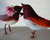 ON SALE! 15% Off - Fancy Flapper Love Bird Cake Topper: Vintage Inspired Bride and Groom Wedding Cake Topper